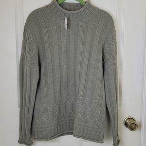 Corsage Lambswool Angora Mock Neck Sweater Size M